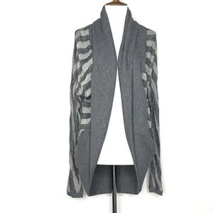 UO Silence + Noise Gray Open Front Cardigan A09065
